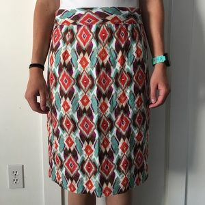 Brightly colored pencil skirt